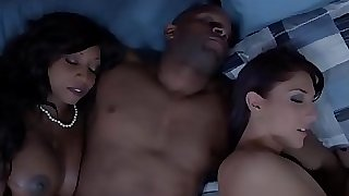 Ebony housewife and buddy cum swapping